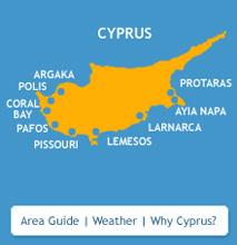 cyprus villas area map
